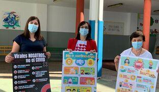 Presentación de la campaña 'Corónate contra el coronavirus' en Pozoblanco.