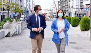 Santiago Cabello y Cristina Casanueva en Pozoblanco.