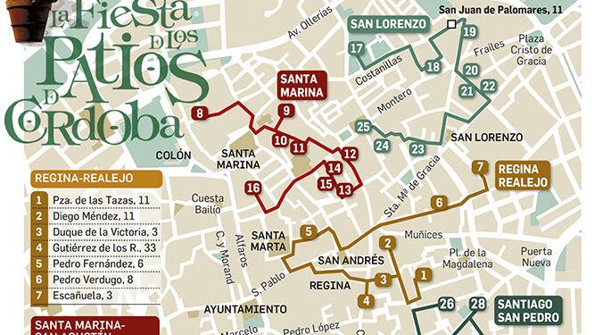 Plano De Los Patios De Córdoba 2020 El Mapa Para No Perderte Nada