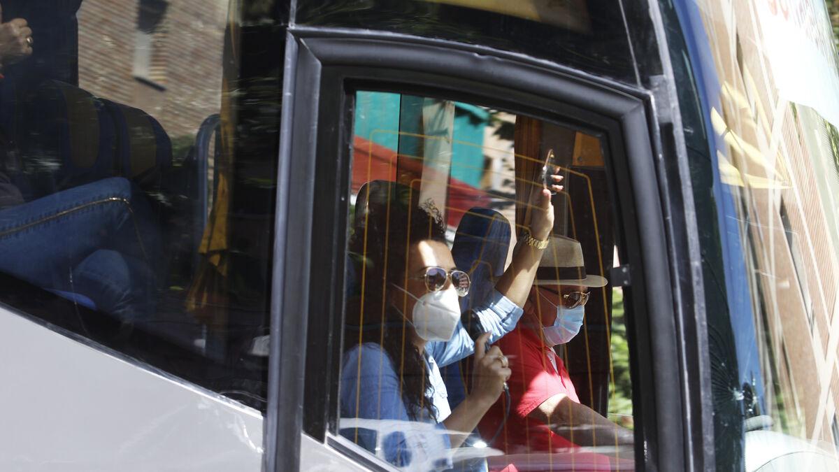 Protesta de los propietarios de autobuses de transporte  de viajeros de Córdoba.