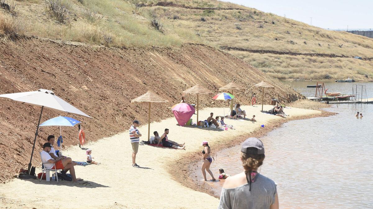 Playa de La Breña, en Almodóvar del Río.