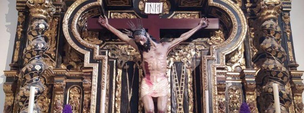 Cristo de Zacatecas en su retablo en Montilla.